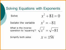 squaring exponents solving equations with exponents jpg caption