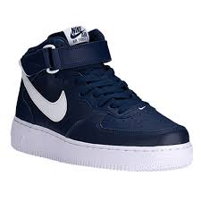 nike air force 1 mid mens navy white air force 1 mid