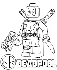 All free coloring pages online at here. Deadpool Lego Minifigure Coloring Sheet Topcoloringpages Net