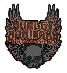 harley davidson gothic winged skull embroidered emblem 3xl size