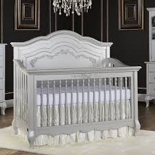 Evolur Aurora 5-in-1 Convertible Crib - Akoya Grey Pearl