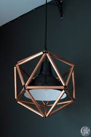 diy geometric icosahedron copper pipe pendant light the gathered home on remodelaholic com