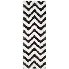 barcelona graphite ivory 2 ft x 7 ft runner rug