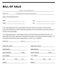 bill of sale letter car bill of sale template in automobile bill of sale template