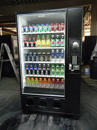 Energy Shot Vending Machine Simple DIXIE NARCO 48 Glass Front Can Bottle Soda Energy Drink Vending
