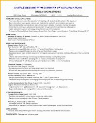 Sample Resume Qualifications And Skills Example Of Resume Skills Lovely Skill Examples For Resume New Sample 9