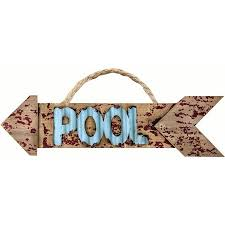 Pool Word Pool Arrow Wood Word Sign S 2 Walmart Com