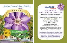 Library Marketing Design Library Volunteer Appreciation Luncheon