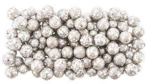 Decorative Vase Filler Balls Silver Glitter Foam Balls vase fillers decorative balls small 31