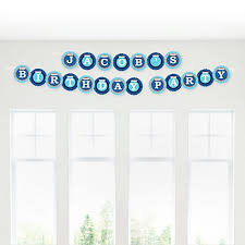 Lion Boy Personalized Birthday Party Garland Letter Banner