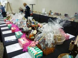 our raffle chairman solicits and collects donations from authors local merchants and others and packages the items together into 20 baskets