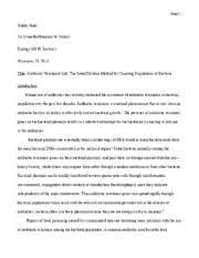 evolution essay mecca pelzer biol w section evolution essay 12 pages homework 8 antibiotic resistance lr