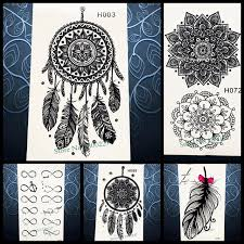 What Stores Sell Dream Catchers Hot Sale Temporary Tattoo Sticker Black Dreamcatcher Tatoo 44