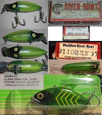 Heddon Punkinseed Color Chart Sg Xgy Or Sr Xgy Green Body Yellow Shore Minnow Or Spook