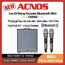 Voucher 100K] Dàn Karaoke Loa Di Động Bluetooth Mini Acnos KBeatbox CS550  (300W) - Mic Đi Kèm, Bluetooth 5.0 giá cạnh tranh