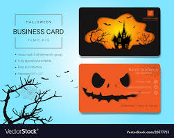Halloween Business Cards Halloween Business Card Or Name Card Template