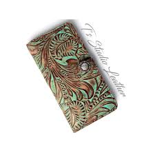 western turquoise fl leather wallet phone case