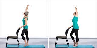 chair yoga. chair yoga