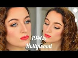 1940s hollywood glamour makeup tutorial