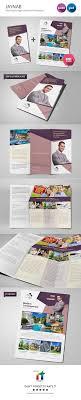 jaynab real estate agent brochure template on behance