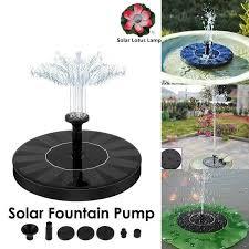 solar powered floating bird bath water