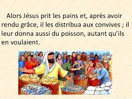 """Résultat de recherche d'images pour """"« Ils distribua les pains aux convives, autant qu'ils en voulaient » (Jn 6, 1-15)"""""""