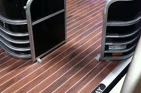 pontoon boat wood flooring designs