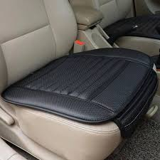fit to viewer prev next car front seats cover pu leather bamboo single bucket seat protector
