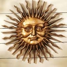 shocking wall art ideas design faces sun metal classic themes picture for decor outdoor inspiration and