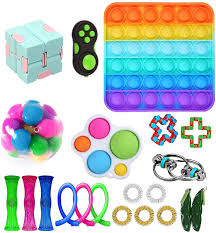 Buy electronics, apparel, books, music & more. Amazon Com Lwxqwds 26pcs Fidget Toy Set Sensory Toys Pack Cheap For Kids Adults Stress Relief And Anti Anxiety Tools Fidget Box With Simple Dimple And Pop Its Toy Kill Time 21 Packs Toys