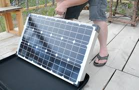 suitcase solar pannel array
