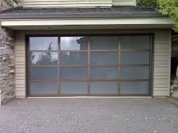 avante garage doors collection glass and aluminum garage door with bronze frame and opaque glass avante