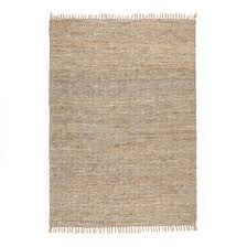 aidas jute and leather rug la redoute interieurs image 0