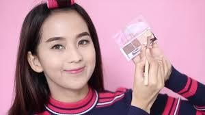 simple korean makeup using indonesian local brand