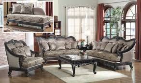 Traditional Living Room Sets 618 Florence Traditional Living Room Set In Black By Meridian