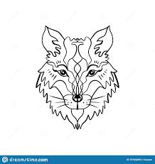 волк тотема или лиса иллюстрация Hippie Boho для эскизов татуировок
