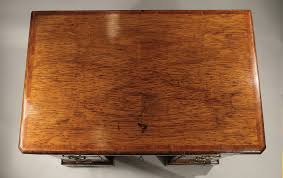 GEORGE I HIGHLY FIGURED BURR ELM & FRUITWOOD KNEEHOLE DESK England, c1725;  M. Ford Creech Antiques & Fine Arts, Memphis, TN
