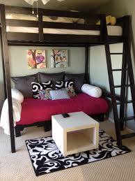 couch bed for teens. Pallet Couch - We Wanted A Comfy Area For Under Our 14 Yr Old, Daughters Loft Bed. Went Shopping..near Some Dumpsters Of Course. Bed Teens