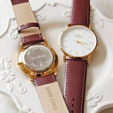 personalised men s watch leather strap by highland angel personalised men s watch leather strap