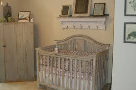 wooden baby nursery rustic furniture ideas. Rustic Baby Crib With Gray Closet And Beige Wall Paint Idea Wooden Nursery Furniture Ideas I