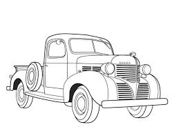 Small Picture Dodge Pickup 1939 Old Car Coloring Pages Free Online Cars