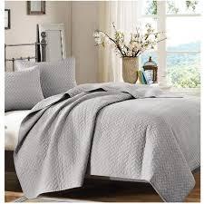 Bed Quilts – Sky Iris & solid-grey-quilt Adamdwight.com