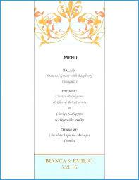 Fancy Restaurant Menu Fancy Wedding Menu Template