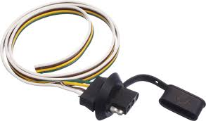 flat 4 wire trailer plug wiring diagram golkit com Connector With Humbucker Pickup Wiring Diagram For Four 4 pin towing connector facbooik