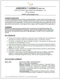 Objective For Resume For Freshers Resume Career Objective Resume