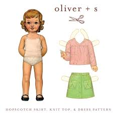 Hopscotch Pattern Awesome Oliver S OS48HS Hopscotch Skirt Knit Top Dress