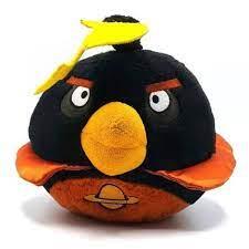 Commonwealth Angry Birds Space Black Bomb black bronze space bird 2012 plush.  No sound