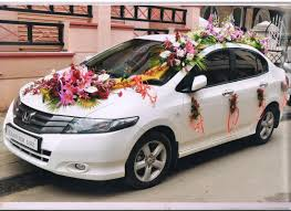 flower decorations car decoration services in wedding sanchitha event management