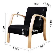 crazy mall bentwood arm chair sponge cushion fabric sofa wooden recliner lounge black ture custom dining