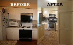 kitchen refacing project by dreammaker ann arbor showing a
